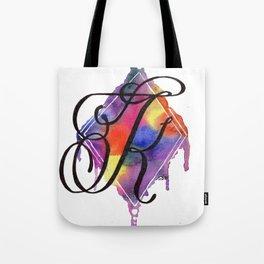 Calligraphy Capital Initial K Tote Bag
