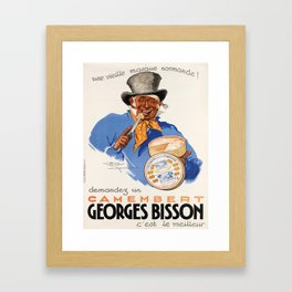 affisso demandez un camembert georges bisson. 1937 Framed Art Print
