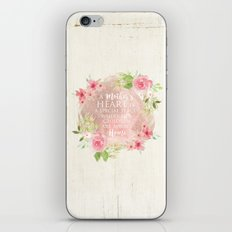 Typography A Mothers Heart iPhone Skin