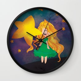 The Stars Lean Down to Kiss You Wall Clock