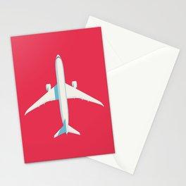 787 Passenger Jet Airliner Aircraft - Crimson Stationery Cards