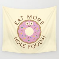 homer Wall Tapestries featuring Do's and Donuts by David Olenick