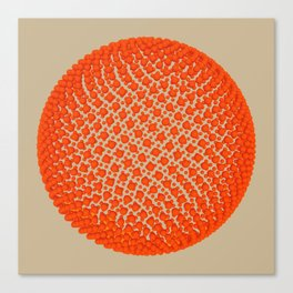 Fibo Orb (red) Canvas Print