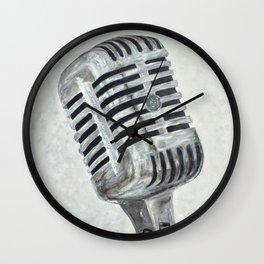 Vintage Microphone Wall Clock
