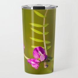 green branched tendrils of Vicia Travel Mug