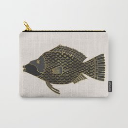 Fantastical Fish 2 - Black and Gold Carry-All Pouch
