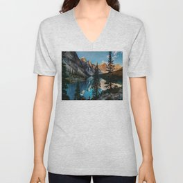 Moraine Lake Canada Unisex V-Neck