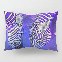 Night Sky Zebra Ultra Violet Pillow Sham