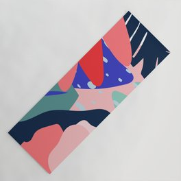 Abstract flower & leaves Yoga Mat