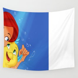 Ariel and Flounder Wall Tapestry