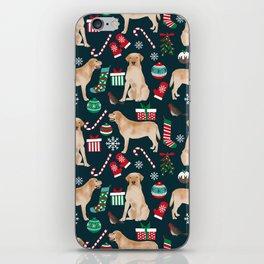 Yellow Labrador retriever christmas festive holiday gifts for dog person dog lover labrador retrieve iPhone Skin