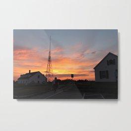 Coastguard Sunset Metal Print