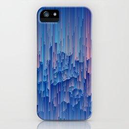 Glitchy Rain - Abstract Digital Piece iPhone Case