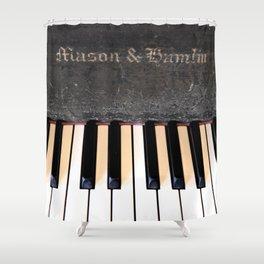 Antique Mason & Hamlin Piano Shower Curtain