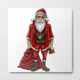 Hipster Santa Claus   Christmas Style Cool Fashion Metal Print