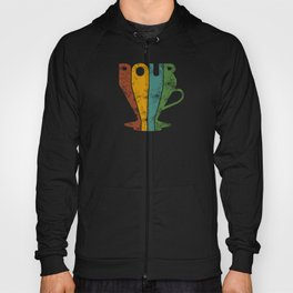 Pour Over Coffee Lover // Abstract Typography Wall Artwork Graphic Design Kettle Hoody