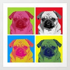 Pop Art Pug Art Print