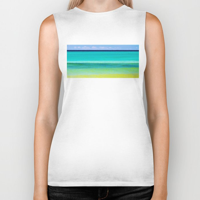 the colors of the sea Biker Tank