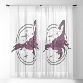 PINK Scorpion Sheer Curtain