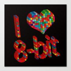 i heart 8-bit Canvas Print