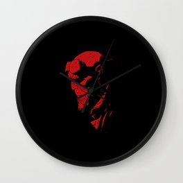 hell boy Wall Clock