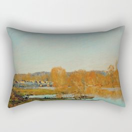Alfred Sisley - Autumn - Banks of the Seine near Bougival. 1873 Rectangular Pillow