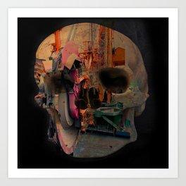 Skull machine Art Print