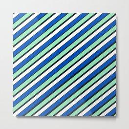 TEAM COLORS 1...Blue and aqua Metal Print