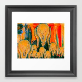 Munch Scream/Revisited  Framed Art Print