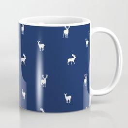 NAVY DEER PATTERN Coffee Mug