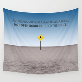 No Open Borders Wall Tapestry