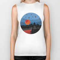 budapest Biker Tanks featuring Budapest Super Moon by Andras Wobe Kocsis