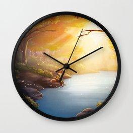 The Fishing Pool Wall Clock