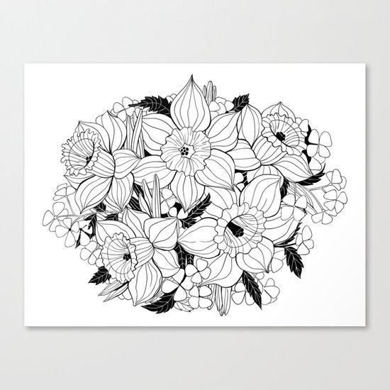 Daffodil bouquet Canvas Print