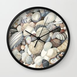 Sea shore of Crete Wall Clock