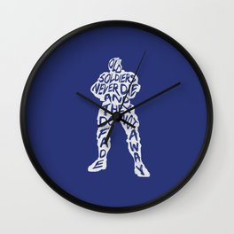 Soldier 76 Type illustration Wall Clock
