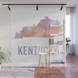 Watercolor State - KY Wall Mural