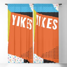 Bright Memphis Throwback Retro 1990s 80s Trendy Hipster Pattern Coral Blackout Curtain