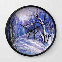 Winter # 2 Wall Clock