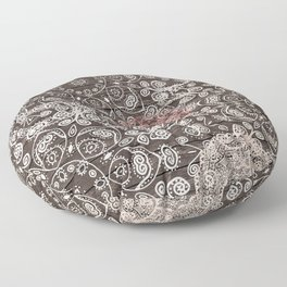 HAPPY GO LUCKY - BOHO WOOD Floor Pillow