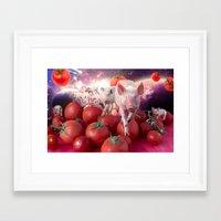 pigs Framed Art Prints featuring Pigs by Devnenski