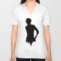 shadow V-neck T-shirts featuring SHADOW by Amanda Mocci