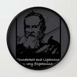 Galileo thunder and lightnings pun quote gift Wall Clock