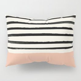 Peach x Stripes Pillow Sham