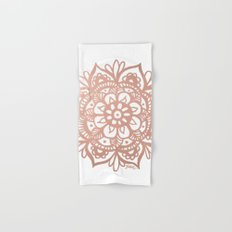 Rose Gold Mandala Hand & Bath Towel