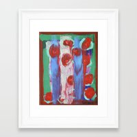 leah flores Framed Art Prints featuring FLORES by S.Queimado-Lima
