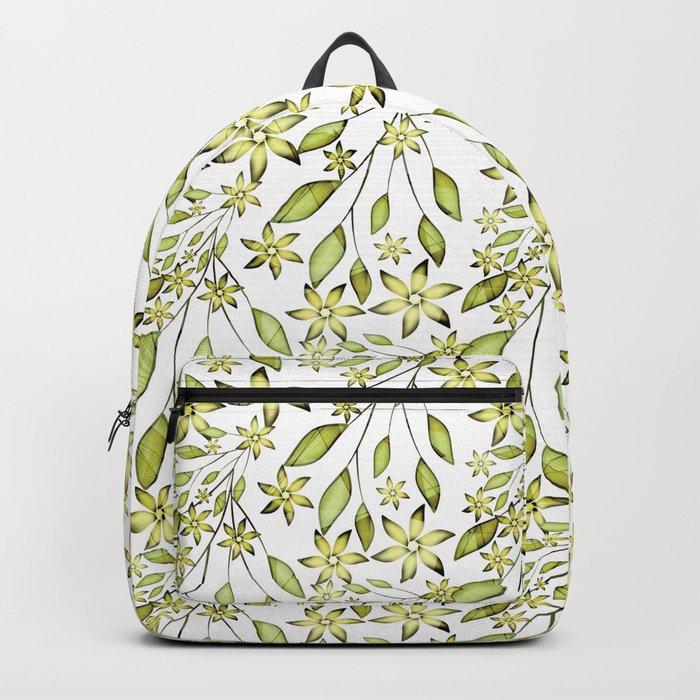 delicate floral pattern. Backpack