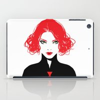black widow iPad Cases featuring Black Widow by Irene Flores
