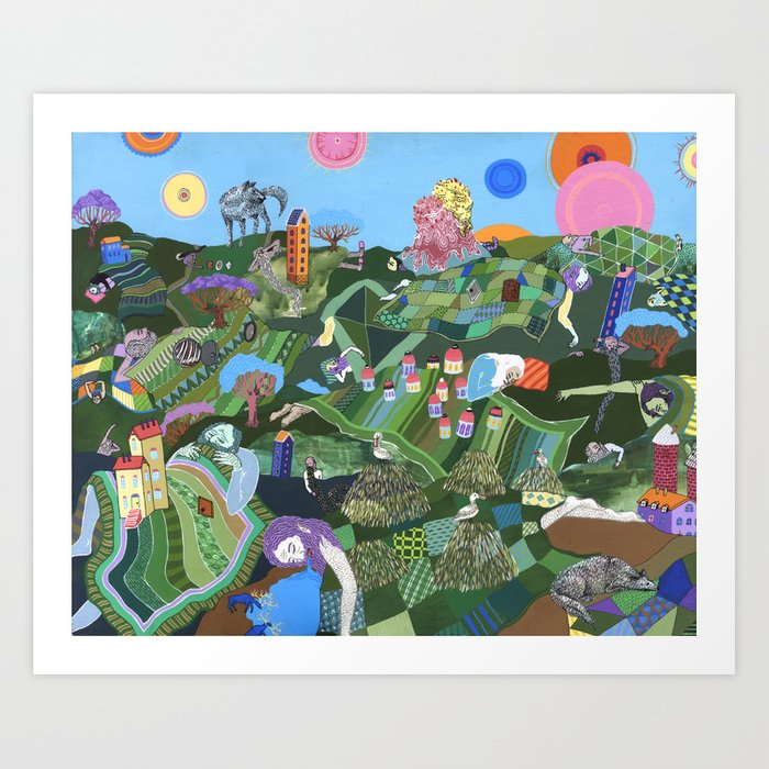 Sleeping Giants Art Print