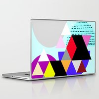 decal Laptop & iPad Skins featuring geometric pattern by haroulita
